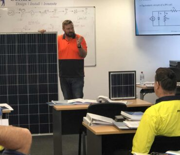 Solar Course being presented